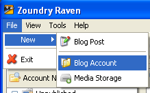 Raven 2 Blog from Desktop : Desktop Blogging Software