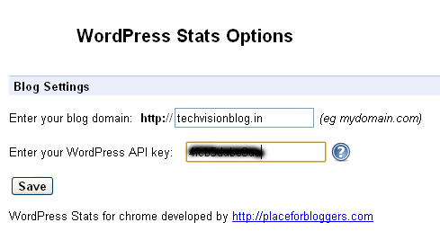 wordpress api Monitor wordpress blog from Google Chrome