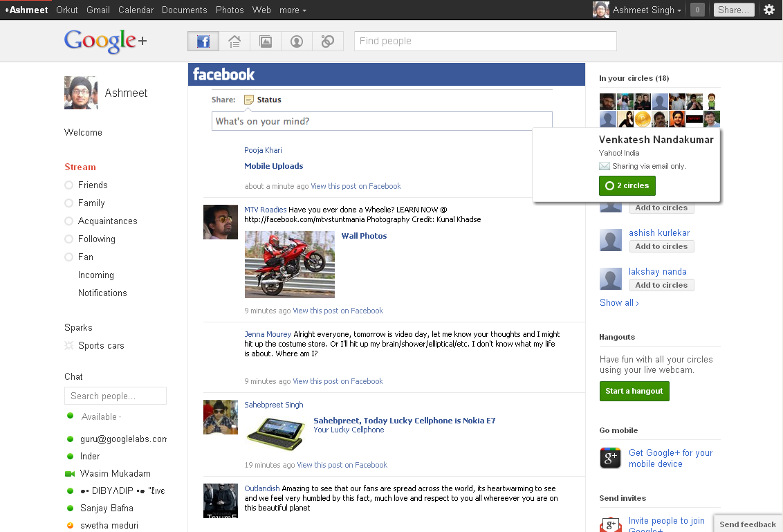 google+ How to Combine Google+ and Facebook