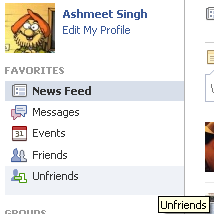 unfriend 2 Find pending friend request on facebook
